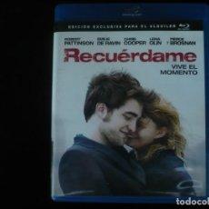 Cine: RECUERDAME - VIVE EL MOMENTO - BLURAY COMO NUEVO. Lote 210425092