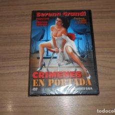 Cine: CRIMENES EN PORTADA DVD DE LAMBERTO BAVA TERROR EROTICA NUEVA PRECINTADA. Lote 213645690