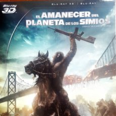Cine: EL AMANECER DEL PLANETA DE LOS SIMIOS BLU RAY +3D. Lote 214766576