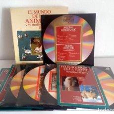 Cine: LASER DISC EL MUNDO DE LOS ANIMALES Y SU MEDIO AMBIENTE II. 9 DISCOS PLANETA FELIZ RODRIGUEZ FUENTE. Lote 217525465