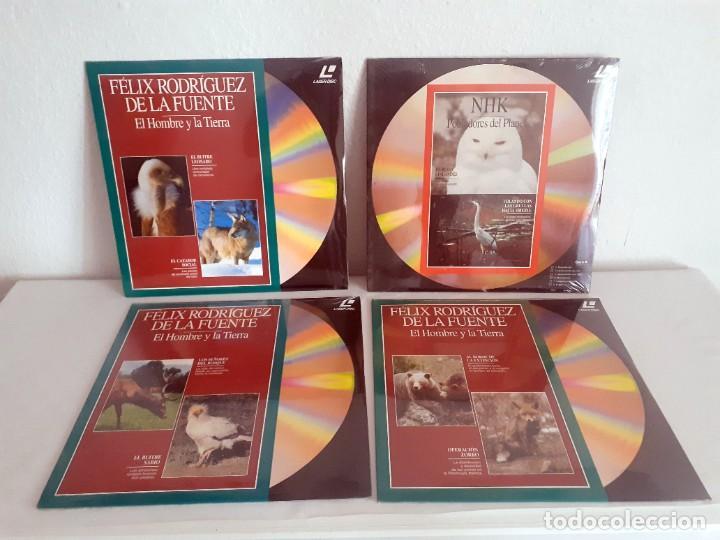 Cine: LASER DISC EL MUNDO DE LOS ANIMALES Y SU MEDIO AMBIENTE II. 9 DISCOS PLANETA FELIZ RODRIGUEZ FUENTE - Foto 2 - 217525465