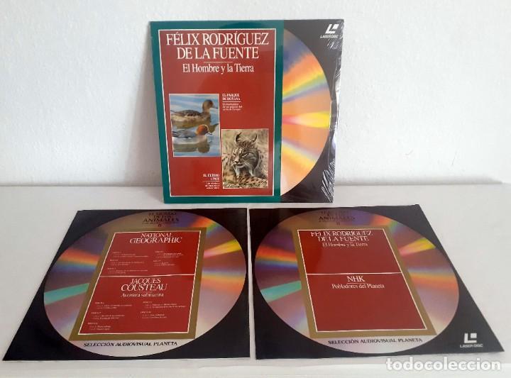Cine: LASER DISC EL MUNDO DE LOS ANIMALES Y SU MEDIO AMBIENTE II. 9 DISCOS PLANETA FELIZ RODRIGUEZ FUENTE - Foto 4 - 217525465