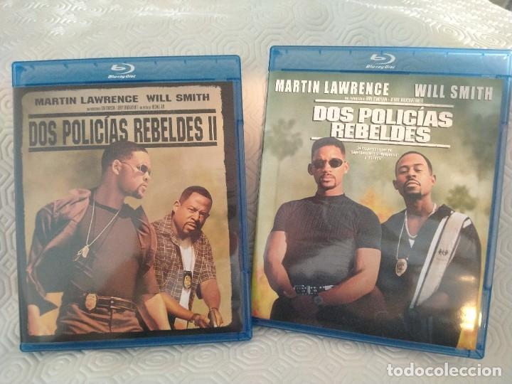 Cine: DOS POLICIAS REBELDES 1 + 2. ESTUCHE CON 2 BLURAY CON LAS DOS PELICULAS. CON MARTIN LAWRENCE Y WILL - Foto 2 - 218558878