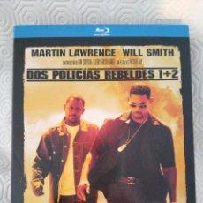 Cine: DOS POLICIAS REBELDES 1 + 2. ESTUCHE CON 2 BLURAY CON LAS DOS PELICULAS. CON MARTIN LAWRENCE Y WILL. Lote 218558878