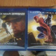 Cine: 2 PELÍCULAS BLU-RAY BLACK HAWK DERRIBADO Y SPIDER-MAN 3. Lote 221256522