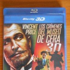 Cine: BLU-RAY LOS CRIMENES DEL MUSEO DE CERA 3D - VINCENT PRICE - COMO NUEVO (HA). Lote 222012152