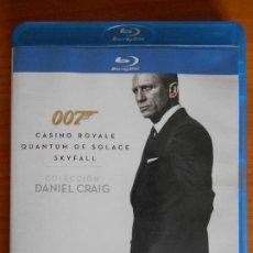 Cine: BLU-RAY 007 COLECCION DANIEL CRAIG 3 DISCOS: CASINO ROYALE / QUANTUM OF SOLACE / SKYFALL (HA). Lote 222012472