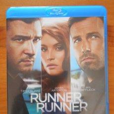 Cine: BLU-RAY RUNNER RUNNER - JUSTIN TIMBERLAKE, BEN AFFLECK - COMO NUEVO (IK1). Lote 222028530