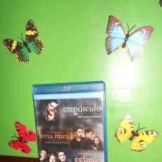 Cine: SAGA CREPUSCULO / CREPUSCULO + LUNA NUEVA + ECLIPSE - 3 BLU-RAYS / 3 BLURAYS. Lote 222248192