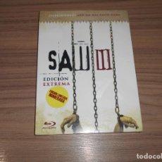 Cine: SAW III EDICION EXTREMA LIMITADA Y NUMERADA BLU-RAY DISC TERROR NUEVO PRECINTADO. Lote 222267796