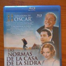 Cine: BLU-RAY LAS NORMAS DE LA CASA DE LA SIDRA - COMO NUEVO (IA). Lote 222436257