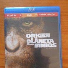 Cine: BLU-RAY + DVD + COPIA DIGITAL EL ORIGEN DEL PLANETA DE LOS SIMIOS - COMO NUEVO (IA). Lote 222437575