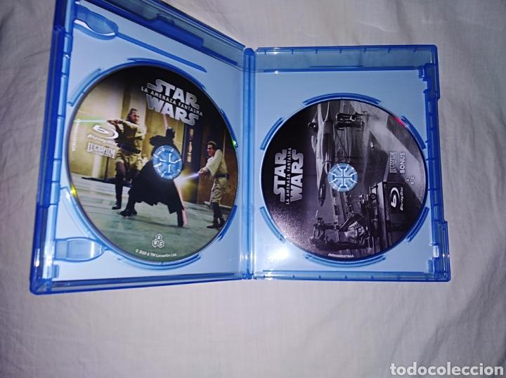 Cine: STAR WARS EPISODIO I LA AMENAZA FANTASMA BLURAY DISC ORIGINAL 2 DISCOS REMASTERIZADA DE MASTER 4K - Foto 2 - 223714245