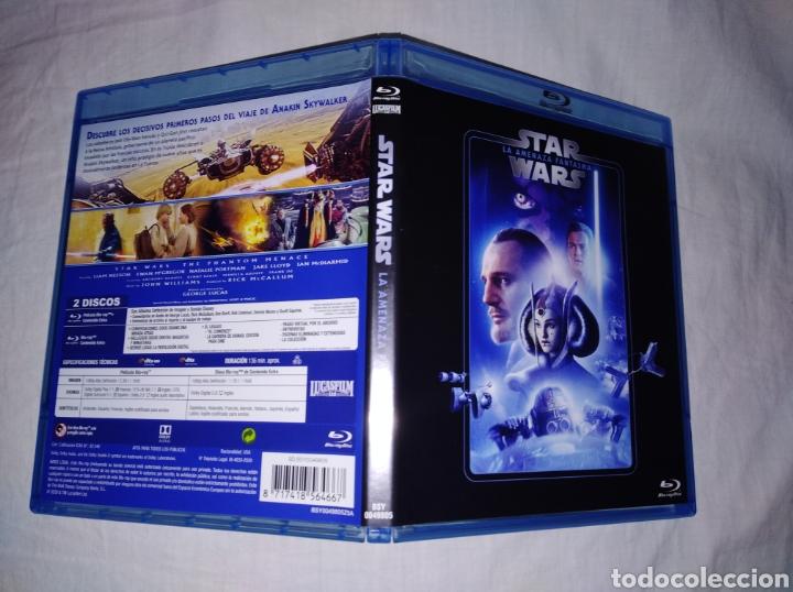 STAR WARS EPISODIO I LA AMENAZA FANTASMA BLURAY DISC ORIGINAL 2 DISCOS REMASTERIZADA DE MASTER 4K (Cine - Películas - Blu-Ray Disc)