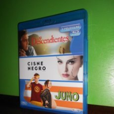 Cine: LOS DESCENDIENTES + CISNE NEGRO + JUNO - PACK 3 BLU-RAYS / 3 BLURAYS - DISPONGO DE MAS BLU-RAYS. Lote 223795228