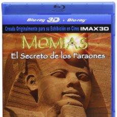 Cine: MOMIAS EL SECRETO DE LOS FARAONES IMAX 3D BLU-RAY 2012. Lote 224324678