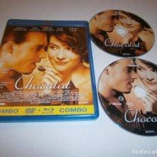 Cine: CHOCOLAT BLU RAY BR + DVD JULIETTE BINOCHE JOHNNY DEEP. Lote 226400995