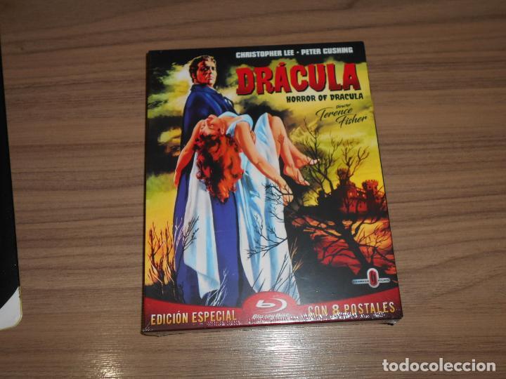 DRACULA HORROR OF DRACULA EDICION ESPECIAL BLU-RAY DISC + POSTALES NUEVO PRECINTADO (Cine - Películas - Blu-Ray Disc)