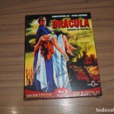 Cine: DRACULA HORROR OF DRACULA EDICION ESPECIAL BLU-RAY DISC + POSTALES NUEVO PRECINTADO. Lote 226442495