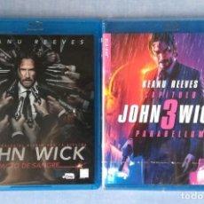 Cine: PACK JOHN WICK EN BLU RAY. PACTO DE SANGRE Y PARABELLUM // PROMOCION EN LOS ENVIOS. LEER DESCRIPCION. Lote 228109660