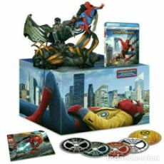 Cine: SPIDER-MAN: HOMECOMING 4K UHD + BLU-RAY + BD 3D + DVD + COMIC + FIGURA ESPAÑOLA. Lote 236860345