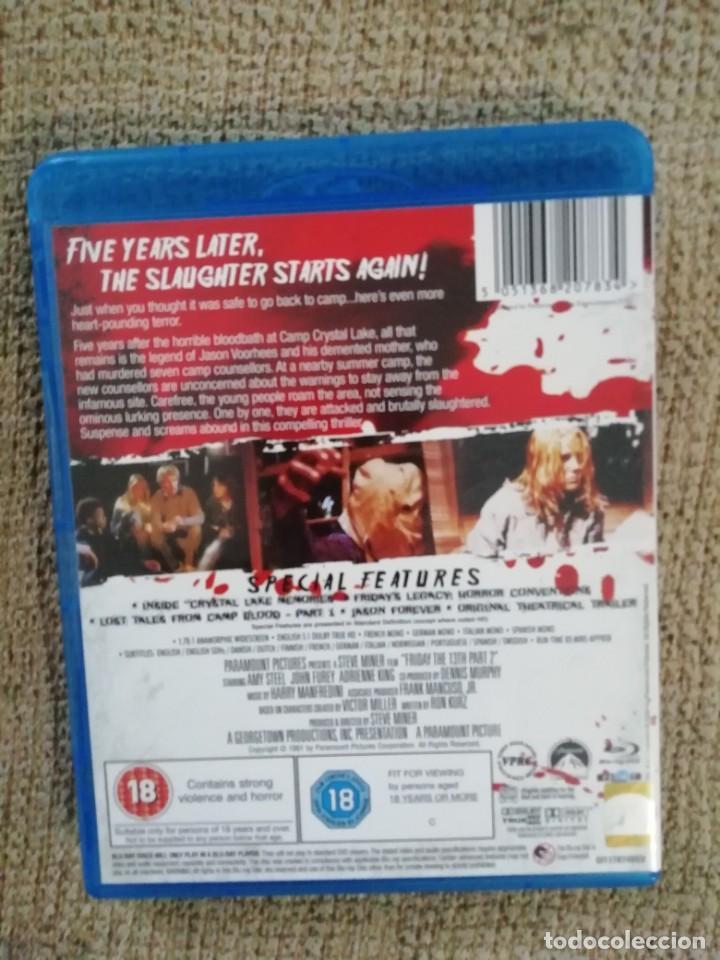 """Cine: """"Viernes 13, segunda parte"""" / Bluray / Edición inglesa con castellano en audio y subtítulos - Foto 2 - 236958900"""