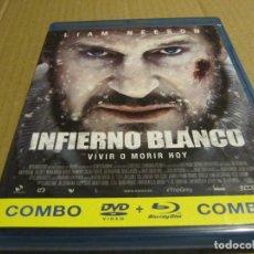 Cine: INFIERNO BLANCO-LIAM NEESON-BLURAY+DVD..ACCION..SUPERVIVENCIA..NIEVE..LOBOS..MUY BUENA. Lote 243928620