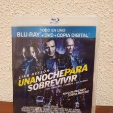 Cine: BLU-RAY + DVD UNA NOCHE PARA SOBREVIVIR CON LIAN NEESON. Lote 244625735