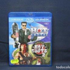 Cine: HOT SHOTS - HOT SHOTS 2 - BLU RAY. Lote 256022740