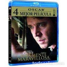 Cine: UNA MENTE MARAVILLOSA [BLU-RAY] - RUSSELL CROWE / ED HARRIS. Lote 256031495