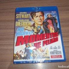 Cine: MOMENTOS DE PELIGRO BLU-RAY DISC JAMES STEWART MARLENE DIETRICH 1ª VEZ CASTELLANO NUEVO PRECINTADO. Lote 288461948