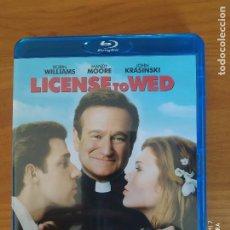 Cine: BLU-RAY LICENSE TO WED - ROBIN WILLIAMS - EN INGLES - COMO NUEVO (DS). Lote 267723344