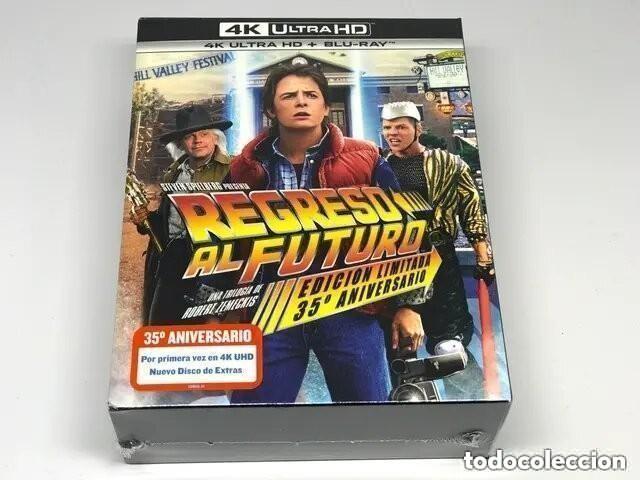 TRILOGÍA REGRESO AL FUTURO EDICIÓN METÁLICA STEELBOOK 35º ANIVERSARIO 4K ULTRA HD BLU-RAY PRECINTADO (Cine - Películas - Blu-Ray Disc)