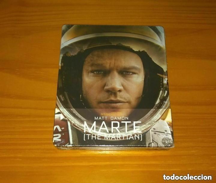 MARTE (THE MARTIAN) EDICION ESPAÑOLA STEELBOOK BLU-RAY NUEVO PRECINTADO (Cine - Películas - Blu-Ray Disc)