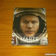 Cine: MARTE (THE MARTIAN) EDICION ESPAÑOLA STEELBOOK BLU-RAY NUEVO PRECINTADO. Lote 268856184