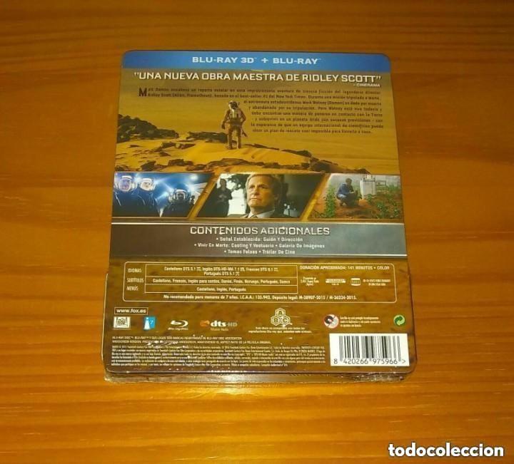 Cine: MARTE (THE MARTIAN) EDICION ESPAÑOLA STEELBOOK BLU-RAY NUEVO PRECINTADO - Foto 2 - 268856184
