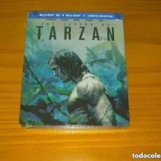 Cine: LA LEYENDA DE TARZÁN STEELBOOK BLU-RAY + 3D NUEVO PRECINTADO. Lote 268856464