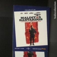 Cine: MALDITOS BASTARDOS DIRIGIDA POR QUENTIN TARANTINO (BLURAY + DVD ) COLECCION FNAC PEPETO. Lote 272287168