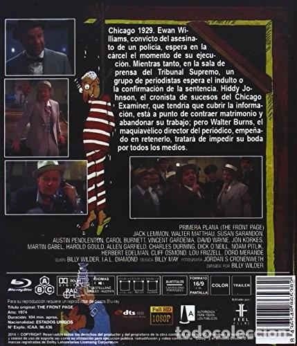 Cine: PRIMERA PLANA (JACK LEMMON, WALTER MATTHAU) - BLURAY NUEVO Y PRECINTADO - Foto 2 - 276801428