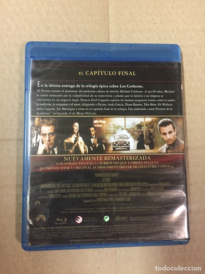 Cine: EL PADRINO parte III, en BLU-RAY, LA REMASTERIZACION DE COPPOLA - Foto 2 - 276958733
