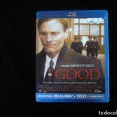 Cine: GOOD - VIGGO MORTENSEN - COMBO BLURAY + DVD COMO NUEVOS. Lote 277278358