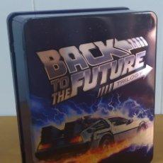 Cine: BACK TO THE FUTURE TRILOGY. PRECIOSO PACK DE 3 BLU-RAY + 1 BONUS BLU-RAY. VERSIÓN EN CAJA METÁLICA.. Lote 277738883