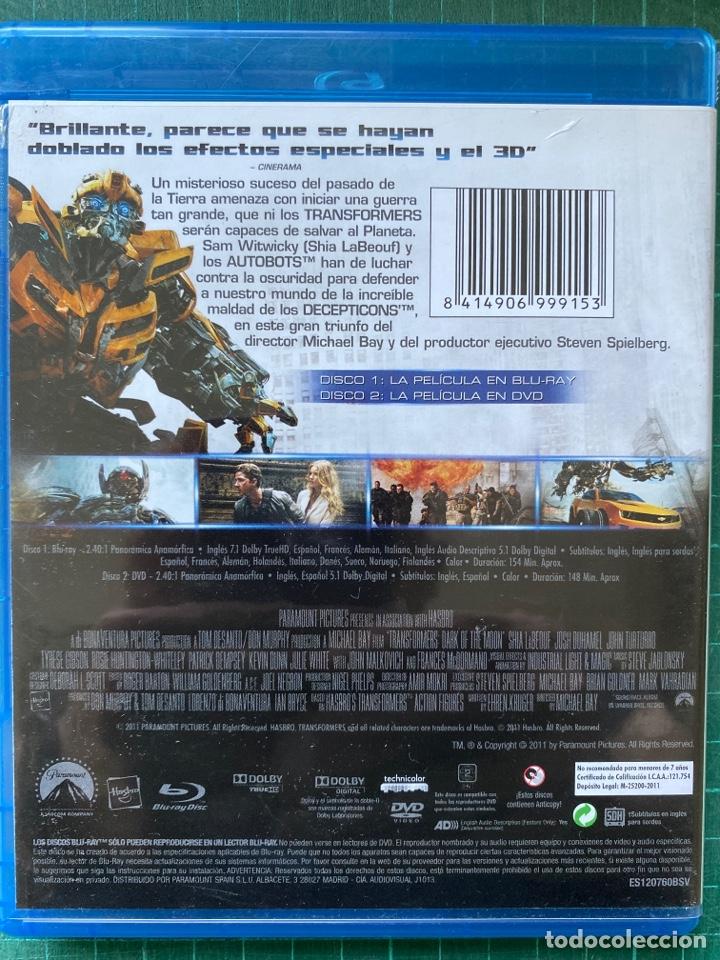 Cine: Transformers: El Lado Oscuro de la Luna (2011) (Acción/Ciencia ficción) (Blu-Ray + DVD) - Foto 2 - 278181633