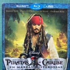 Cine: PIRATAS DEL CARIBE: EN MAREAS MISTERIOSAS (2011) (AVENTURA/ACCIÓN) (BLU-RAY + DVD). Lote 278183923