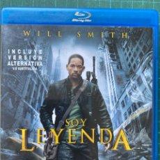 Cine: SOY LEYENDA (I AM LEGEND) (2007) (CIENCIA FICCIÓN/TERROR) (BLU-RAY + VERSIÓN ALTERNATIVA). Lote 278185823
