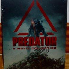 Cine: TRILOGIA PREDATOR DEPREDADOR 3 BLU-RAY NUEVO PRECINTADO STEELBOOK ACCION ESPAÑOL (SIN ABRIR) A-B-C. Lote 278298128