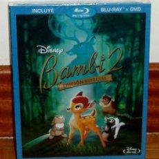 Cine: BAMBI 2 EL PRINCIPE DEL BOSQUE BLU RAY+DVD DISNEY NUEVO SLIPCOVER FUNDA DE CARTON (SIN ABRIR) R2. Lote 278423323