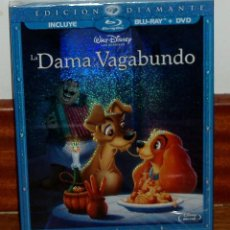 Cine: LA DAMA Y EL VAGABUNDO CLASICO DISNEY Nº 15 SLIPCOVER BLU-RAY+DVD NUEVO FUNDA DE CARTON R2. Lote 278423818