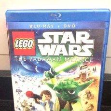 Cine: BLU RAY DVD STAR WARS LEGO PADAWAN MENACE. Lote 278667298