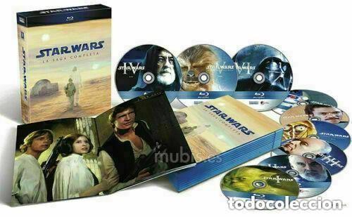 STAR WARS LA SAGA COMPLETA CAJA PARA COLECCIONISTAS EDICION ESPAÑOLA 2011 BLU-RAY PRECINTADO (Cine - Películas - Blu-Ray Disc)